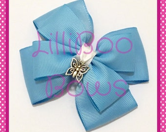 Handmade Cinderella Butterfly Inspired Hair Bow