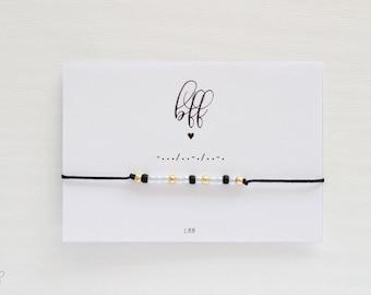BFF Morse Code Bracelet, Morse Code Jewelry, Friendship Bracelet, Morse Code Bracelet, Wish Bracelet, Wish Jewelry, Make a wish bracelet