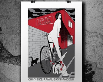 OH MY BIKE - Hadpulled Silkscreen Poster - #spot