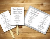 Printable Wedding Program Template - Vintage - Dark Grey & White - Instant Download - Editable MS Word Doc - The Pink Lavender Collection