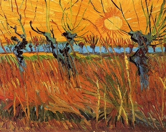 Vincent Van Gogh: Willows at Sunset. Fine Art Print/Poster. (001772)
