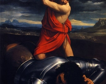 Guido Reni: David and Goliath. Fine Art Print/Poster (00144)