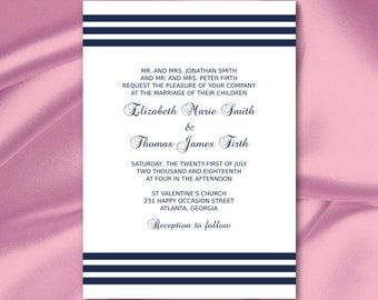 Silver Foil Wedding Invitation Template Diy Purple and Silver