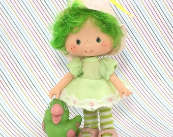 FREE SHIPPING! Vintage Strawberry Shortcake Lime Chiffon and Pet Parfait Parrot NICE!