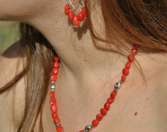 Red coral necklace Corsica cerifie
