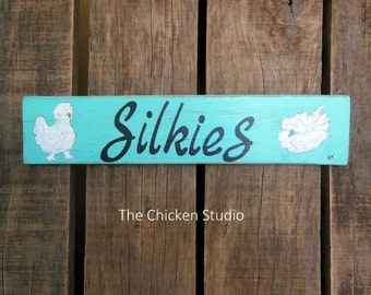 Silkie Chicken, Chicken Coop Sign, Silkie Art, Chicken Signs, Chicken decor, gift
