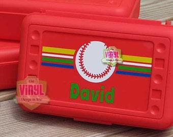 Baseball pencil box, Pencil box for boys, Boys pencil box, Back to school, Personalized school supplies, Sports pencil case, Baseball