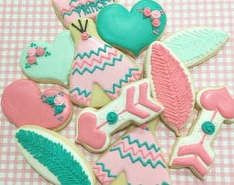 Tribal Cookies/Valentine's Day Cookies