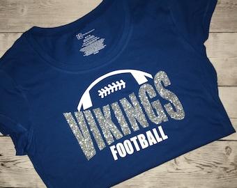 Football mom shirt - football laces