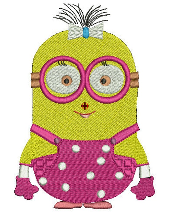 minion julu machine embroidery design 2 size 4x4-5x7 by swigating