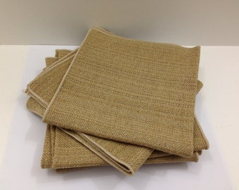 Woven tweed square cloth napkins set of 6