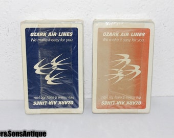 Ozark Airlines Double Deck Playing cards! Sealed!