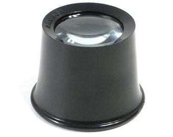 Plastic Eye Loupe (Black) 10x - 29-174