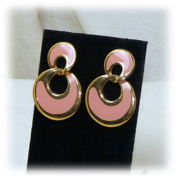 Pinkish Peach Earrings