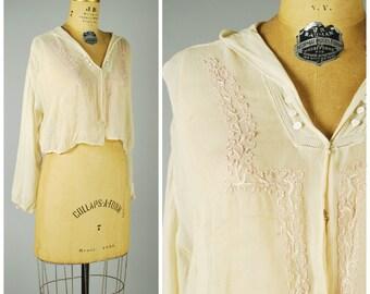 Avril blouse • Edwardian gauze crop blouse