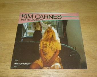 Kim Carnes RECORD SLEEVE Bette Davis Eyes