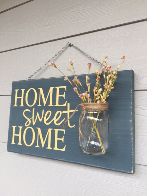 Rustic Outdoor Home Sweet HomeYellow Mothers Day Gift