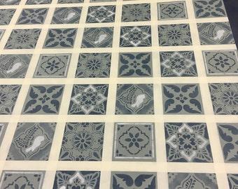 "4' 3"" x 6' Canvas floorcloth"