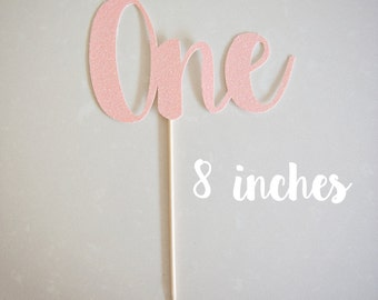 One Cake Topper 8 Inches, Number Cake Topper