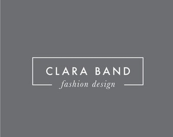 modern box logo design - premade photography photographer blog blogger simple minimal minimalist fashion square feminine makeup contemporary