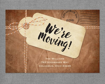 Moving Announcement We Moved Cards I'm Moving Card Moving Cards Just Moved We Have a New Address announcement Cards Digital or Printed