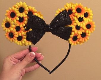 Sunflower Mickey Ears Headband