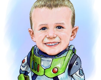 Custom caricature1person head and shoulders