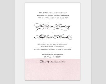 Classic Color Tipped Wedding Invitation - Kathryn Collection