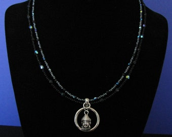 Silver Buddha necklace