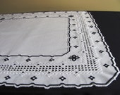 Tablecloth handmade embroidery technique Hardanger, doily, Hardanger, OOAK. embroidery, embroidered Scandinavian