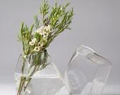 Handblown Glass Bud Geo Vase