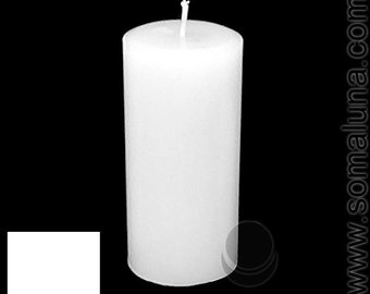 3 x 6.5 White Classic Hand-poured Unscented Pillar Candles Solid Color