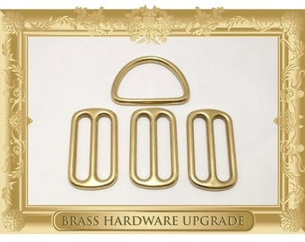 """1.5"""" BRASS HARDWARE OPTION for 1.5 inch Width Martingale Collar"""