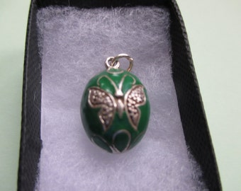 Butterfly Egg Charm or Pendant