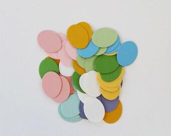 Die Cut Color Easter Eggs