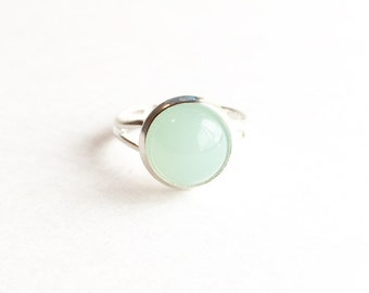 Adjustable Gumdrop Ring - Mint