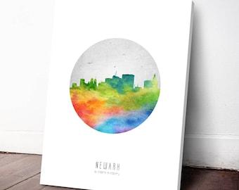 Newark Skyline Canvas Print, Newark Cityscape, Newark Art Print, Home Decor, Gift Idea, USNJNE20C