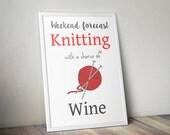 Knitters print, Weekend f...