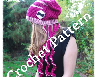 Cephalohat Crochet Pattern - Octopus Hat crochet pattern