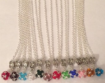 Bithstone Charm Necklaces