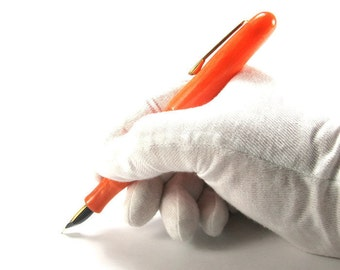 Original Hand Crafted Fountain Pen, Carrot Orange, Discount Special! Free Shipping Within CONUS