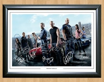 Fast and Furious 6 Cast x 10 Signed A4 Photo Print Autograph Poster Vin Diesel