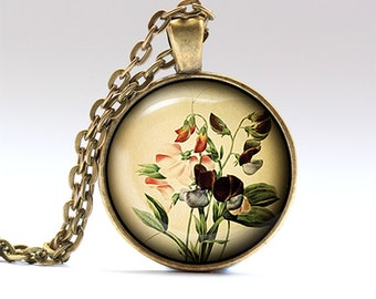 Floral necklace Flower pendant Nature jewelry RO409
