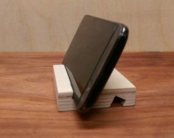Wooden smart phone stand, phone holder for iPhone, android, HTC M8 / M9, cell phone