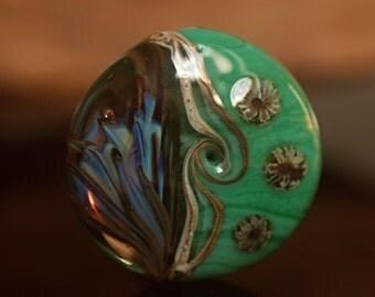 Dandy - Lampwork focal lentil bead