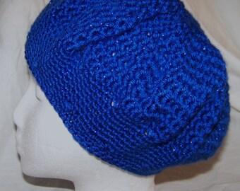 Crochet Slouchy Sparkle Blue