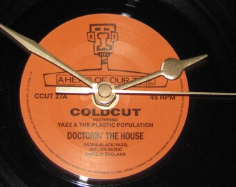 "Coldcut doctorin' the house   7"" vinyl record clock"