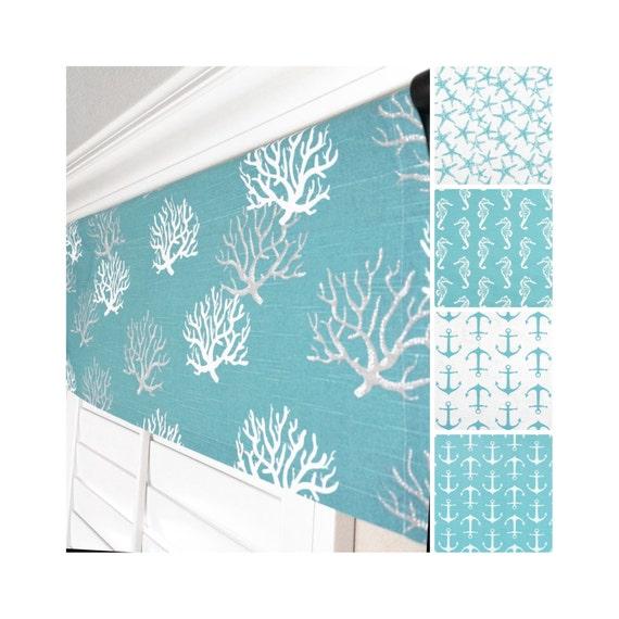 aqua window valance light blue valance blue grey window. Black Bedroom Furniture Sets. Home Design Ideas