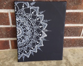 Canvas Wall Art Vinyl Mandala Collage Henna Painting Etsy Circular