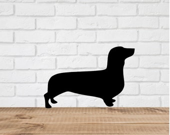 Dachshund Dog Wall Decal Stickers  - 1 to 19 inches high Bedroom Nursery Wall Large Wall Art